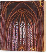 Gothic Architecture Inside Sainte Wood Print