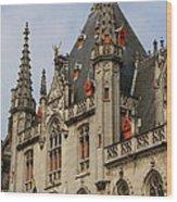 Gothic Bruges Wood Print