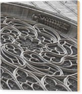 Milan Gothic Cathedral Apse Window Wood Print