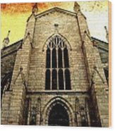 Gothic Church Cathedral Photograph Wood Print