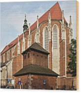 Gothic Church Of St. Catherine In Krakow Wood Print