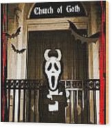 Gothic Church Sentinel Wood Print