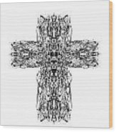 Gothic Cross Wood Print