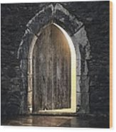 Gothic Light Wood Print by Carlos Caetano