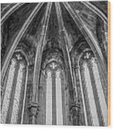 Gothic Monastery Wood Print