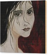 Gothic Portrait Of Woman Painting Wood Print