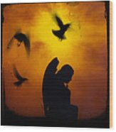 Gothic Silhouette Wood Print