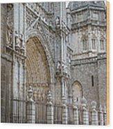 Gothic Splendor Of Spain Wood Print by Joan Carroll