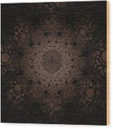 Gothic Stained Glass - Sepia Wood Print