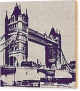 Gothic Victorian Tower Bridge - London Wood Print