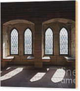 Gothic Windows Of The Royal Residence In The Leiria Castle Wood Print