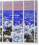 Gottah See Waves  Wood Print