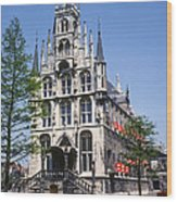 Gouda City Hall Wood Print