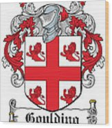 Goulding Coat Of Arms Irish Wood Print