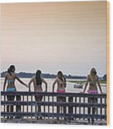 Goulds Creek Girls Wood Print