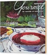 Gourmet Cover Featuring A Bowl Of Borsch Wood Print