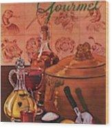 Gourmet Cover Featuring A Casserole Pot Wood Print