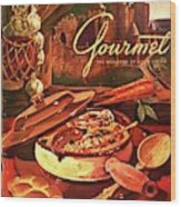 Gourmet Cover Featuring A Pot Of Stew Wood Print