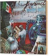 Gourmet Cover Featuring A Variety Of Italian Wood Print