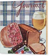 Gourmet Cover Featuring Bread Wood Print