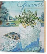 Gourmet Cover Illustration Of Mint Julep Packed Wood Print
