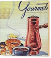 Gourmet Cover Of A French Breakfast Wood Print
