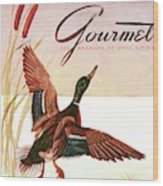 Gourmet Cover Of A Goose Wood Print