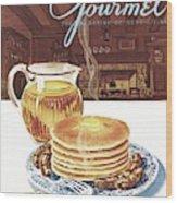 Gourmet Cover Of Pancakes Wood Print