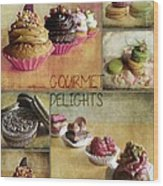 Gourmet Delights - Collage Wood Print