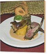Gourmet Dinner Wood Print