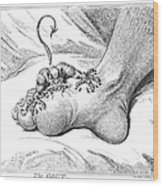 Gout, 1799 Wood Print