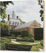 Governers Palace Garden Colonial Williamsburg Va Wood Print