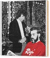 Governor Dan Evans Haircut Wood Print
