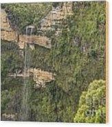 Govetts Leap Falls Wood Print