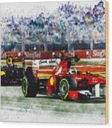Gp Singapore F1  Wood Print