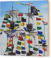 Pirates Up High Wood Print