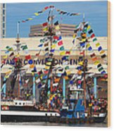 Tampa Convention Center And Gasparilla Wood Print