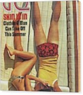 Gq Cover Of Couple Lying Face Down On Boat Deck Wood Print