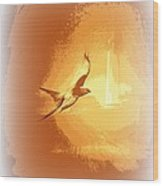 Mississippi Kite - Beauty Into The Light Wood Print