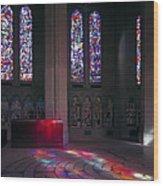 Grace Cathedral Walking Labyrinth - San Francisco Wood Print