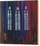 Grace Cathedral With Ribbons Wood Print
