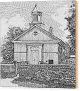 Grace Episcopal Church In Yorktown Virginia Wood Print