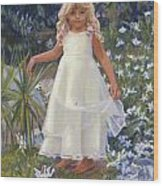 Grace In The Fairy Garden Wood Print