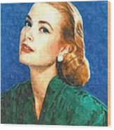 Grace Kelly Painting Wood Print