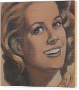 Grace Kelly Wood Print by Shirl Theis
