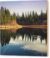 Grace Lake Northern California Wood Print