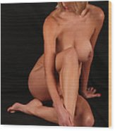 Grace Nude Sitting Wood Print