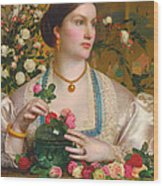 Grace Rose Wood Print