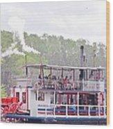 Graceful Ghost Steamboat Wood Print