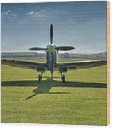 Graceful Spitfire Hdr Wood Print